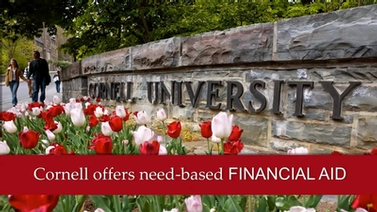 Cornell offers need-based financial aid