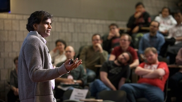 Man lecturing to audience