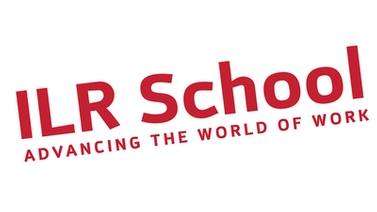ILR School logo with text, Advancing the World of Work