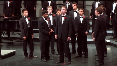 Glee Club members on stage