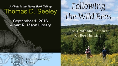 title slide featuring 'Following the Wild Bees' book cover