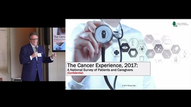 Peter Yesawich presents on a 2017 national survey, The Cancer Experience