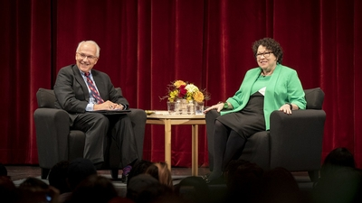 Judge Richard C. Wesley and Justice Sonia Sotomayor