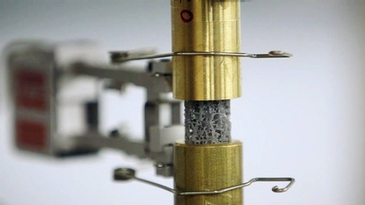 lab equipment tests the durability of 3-d printed bone-like material