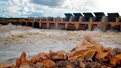 The Santo Ant?nio hydropower dam, recently built in the Brazilian Amazon.