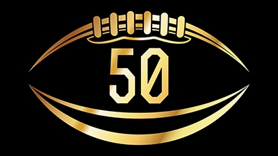 a football with the number 50