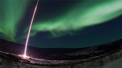 NASA MICA rocket launches into the Northern Lights