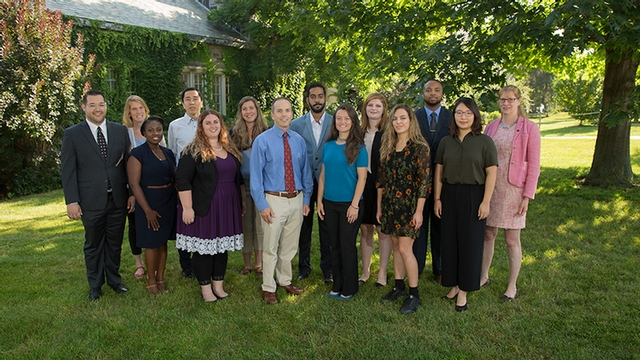 group photo of new MPH students