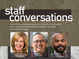 top of staff conversations poster