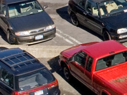 vehicles parked on Cornell campus
