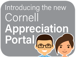 cartoon graphic: introducing the new cornell appreciation portal